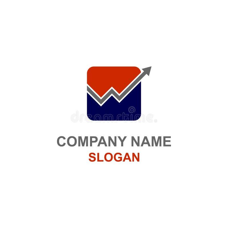 W listu inicjału finanse księgowości logo ilustracja wektor