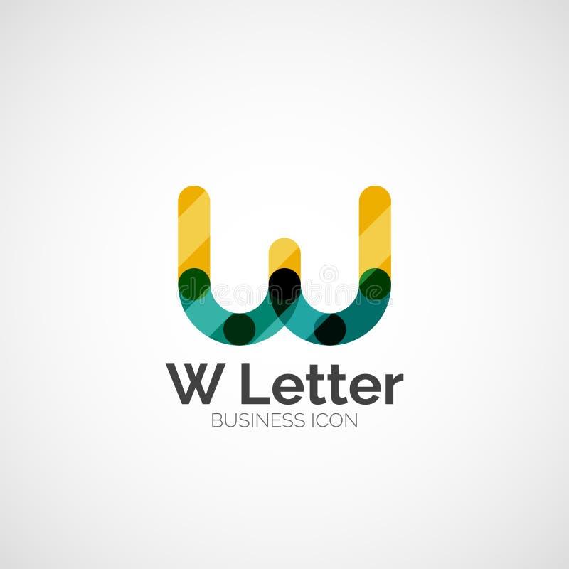 W listu logo, minimalny kreskowy projekt ilustracji