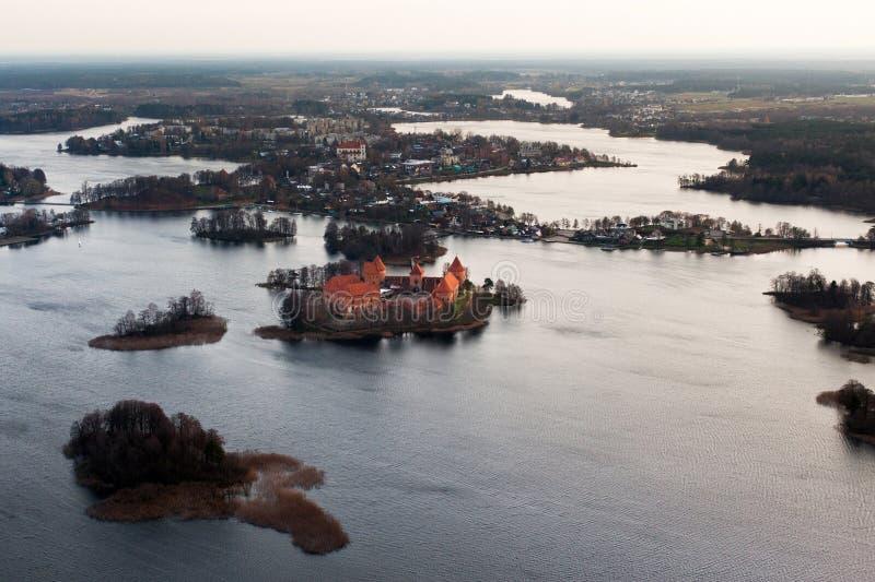 W Lithuania Trakai kasztel fotografia stock