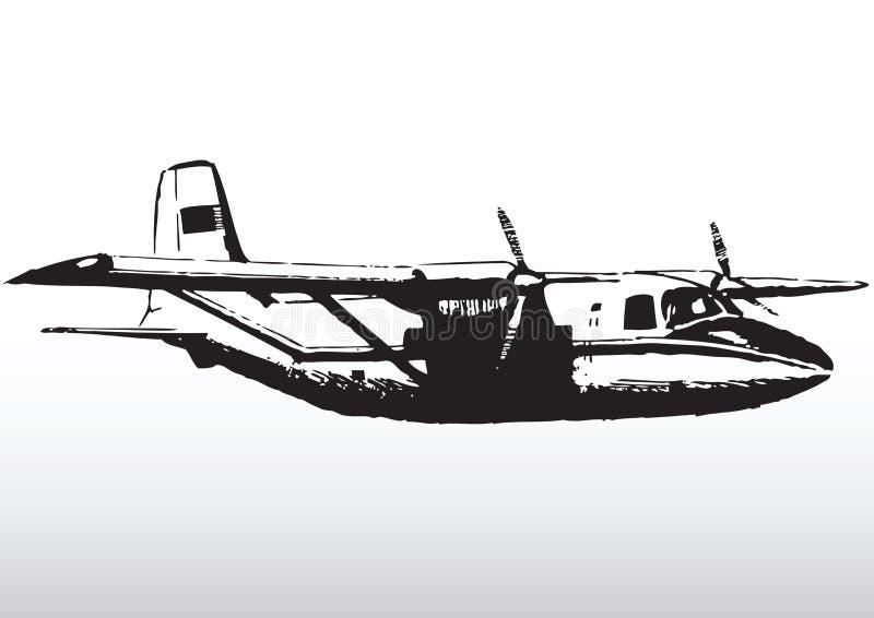 W locie lekki samolot ilustracji