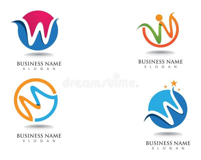 W loga biznesowy logo i symbole obraz stock