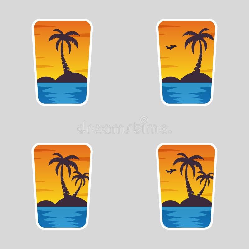 4 w 1 logotypach, lato royalty ilustracja