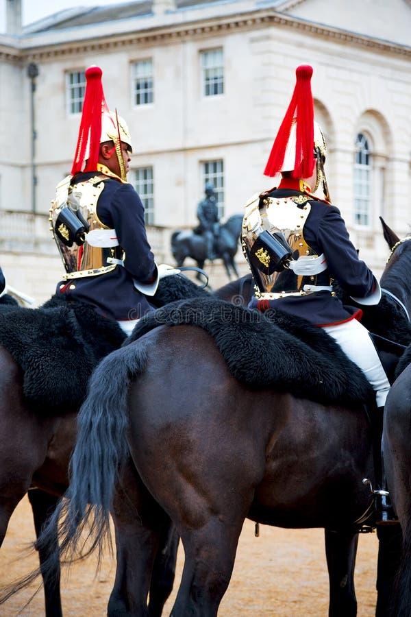 w London England i kawaleria dla królowej zdjęcia royalty free