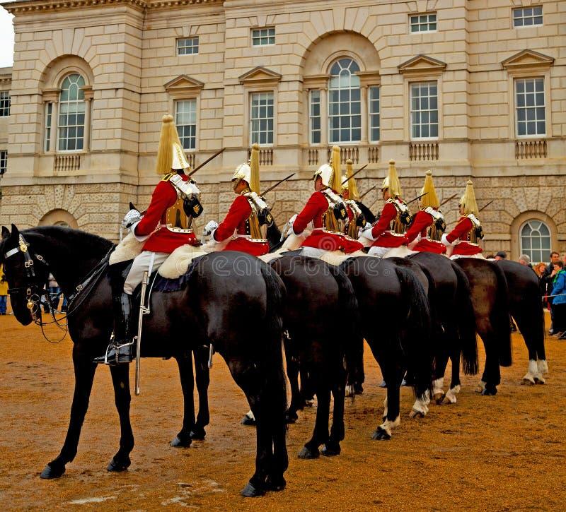 w London England i kawaleria dla królowej fotografia royalty free