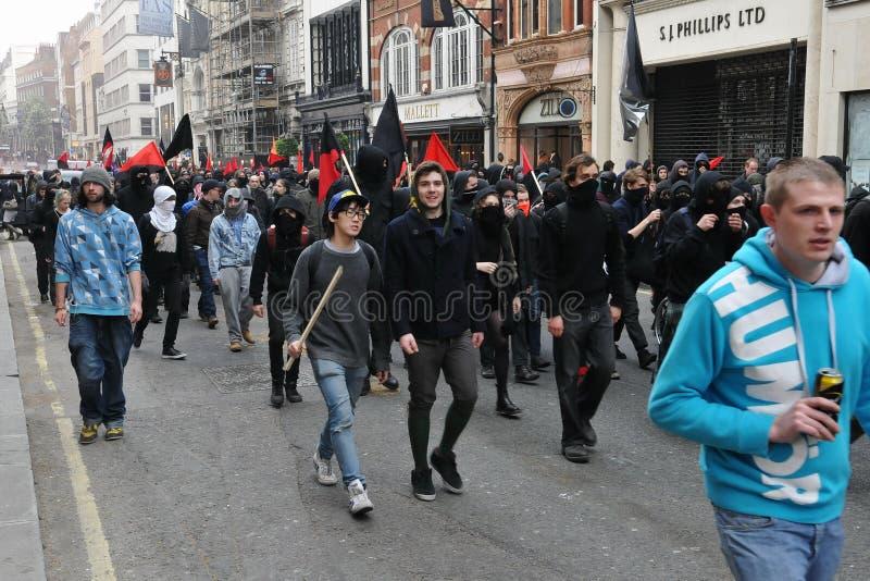 w Londyn cięcie Protesty zdjęcia stock