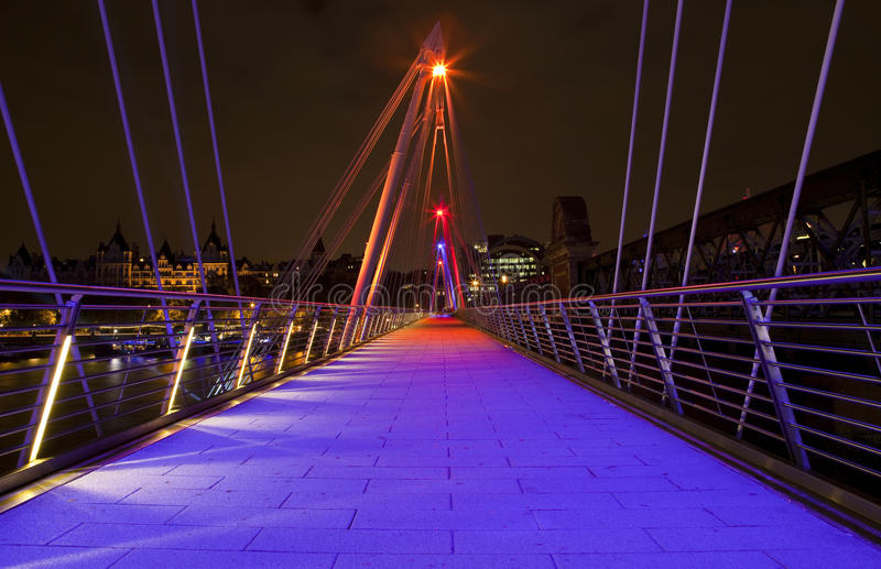 W Londyn Jubileuszu złoty Most obraz stock