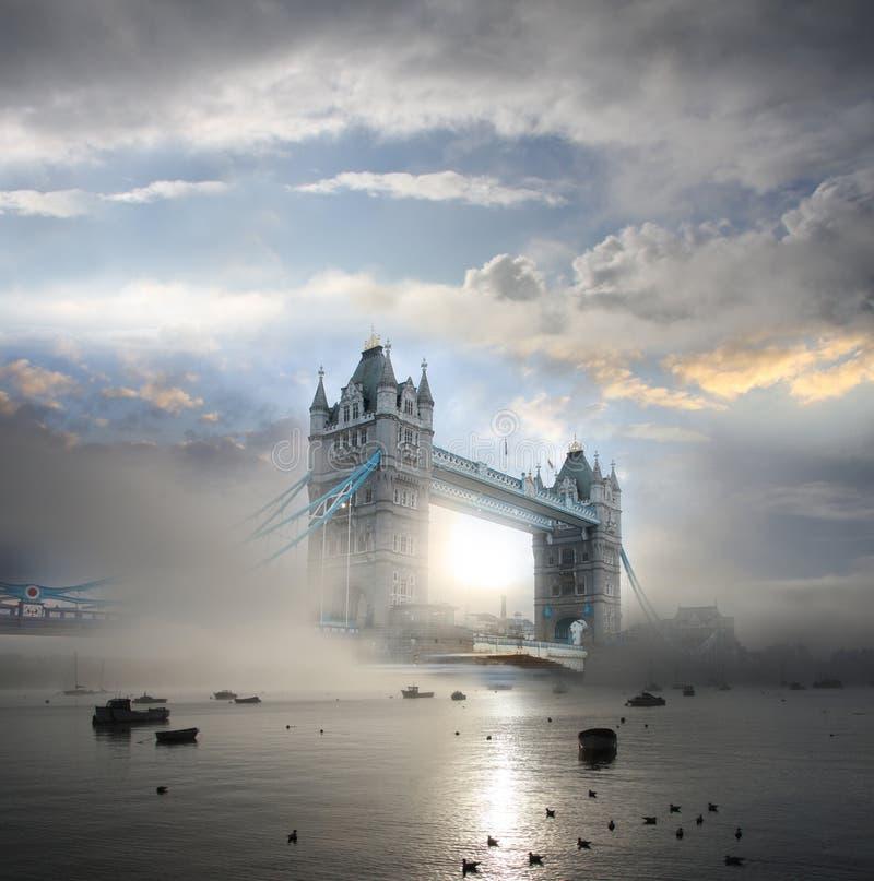 W Londyn UK basztowy Most, obraz royalty free