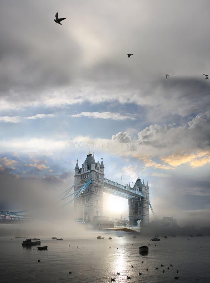 W Londyn UK basztowy Most, fotografia royalty free