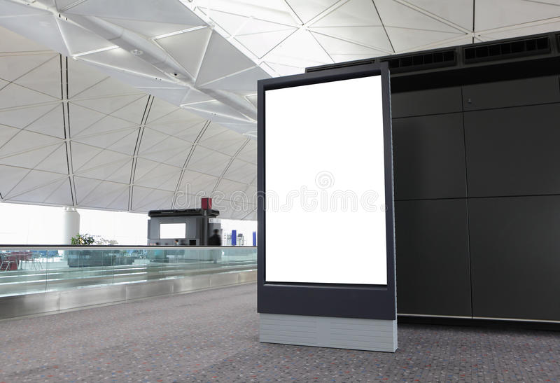 W lotnisku pusty Billboard obraz stock