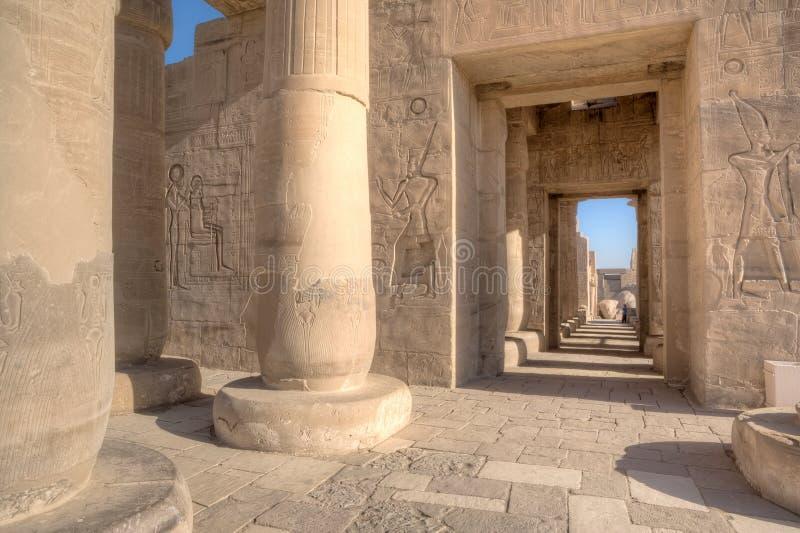 W Luxor Ramesseum świątynia zdjęcia stock