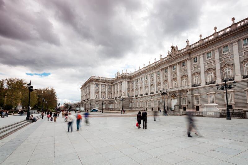 W Madryt Pałac Królewski (Hiszpania) obrazy stock