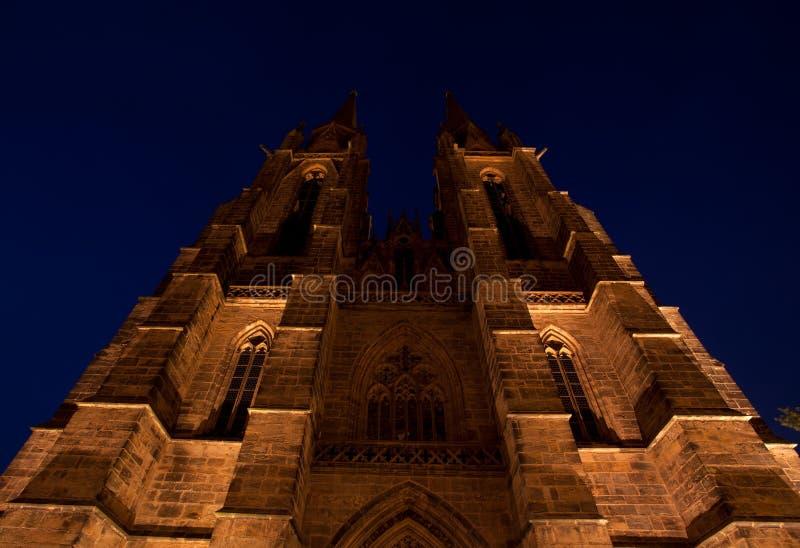 W Marburg St. Kościół Elisabeth's zdjęcia stock