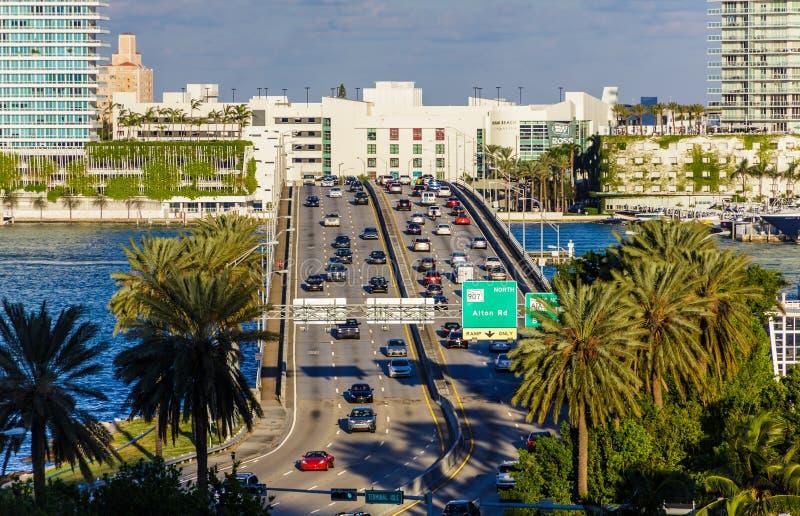 A1A w Miami zdjęcie royalty free