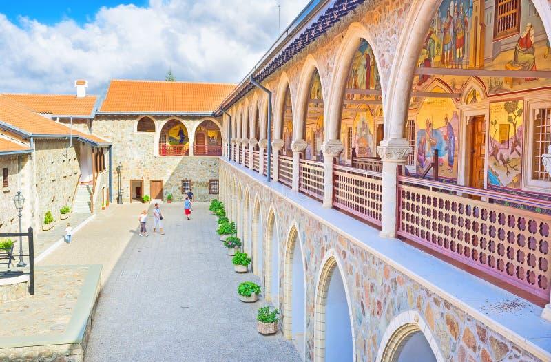W monasterze obraz royalty free