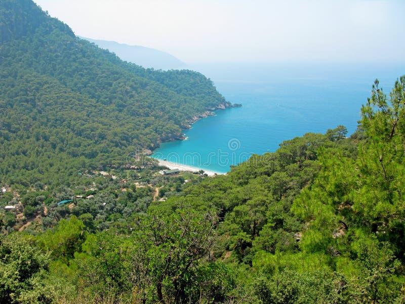 W morze śródziemnomorskie indyku Kabak zatoka obraz royalty free