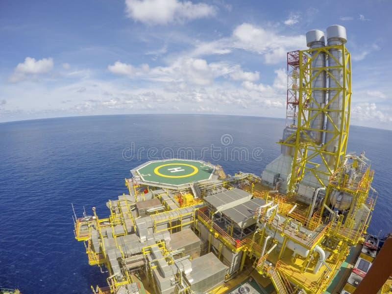 w morzu oleju gazowego przemysłu zdjęcia stock