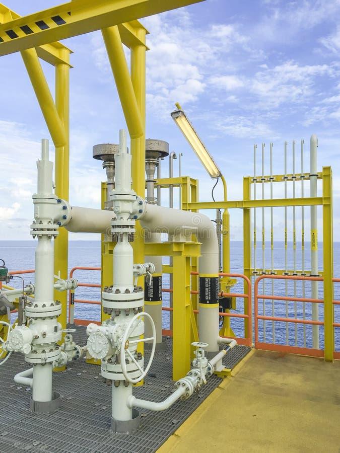 w morzu oleju gazowego przemysłu obraz royalty free