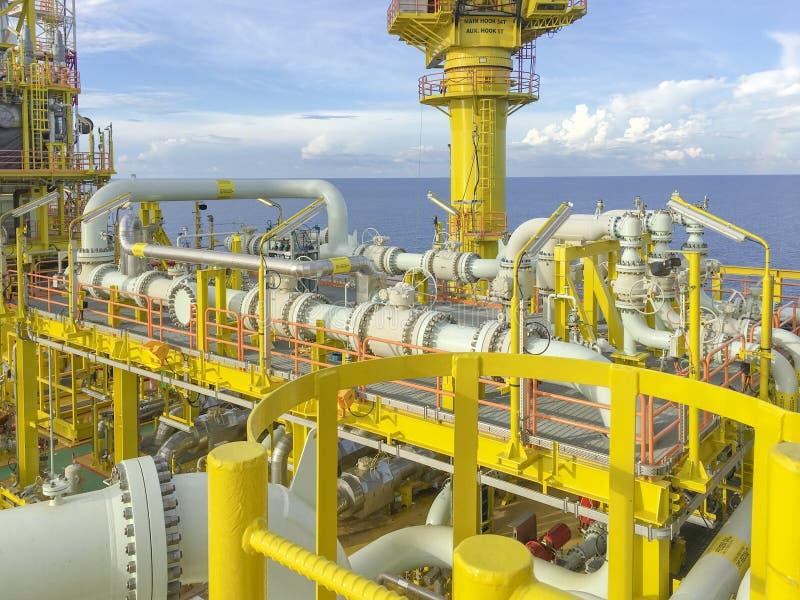 w morzu oleju gazowego przemysłu zdjęcia royalty free