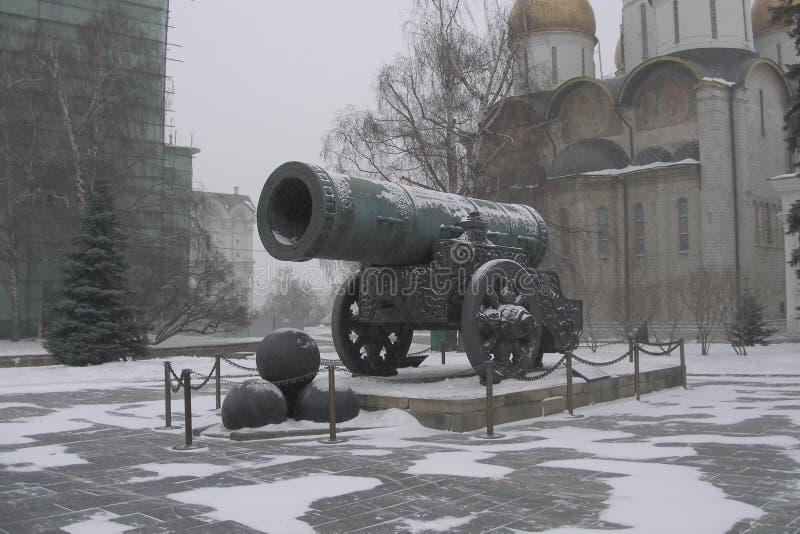W Moskwa Tsar Działo fotografia stock
