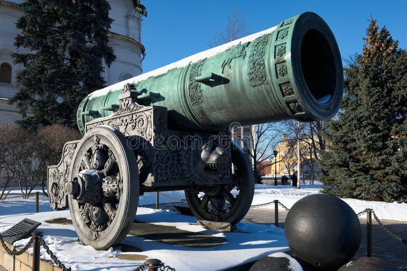 W Moskwa Tsar Działo zdjęcie royalty free