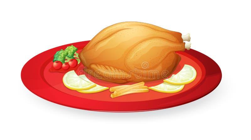 W naczyniu kurczaków ciała ilustracji