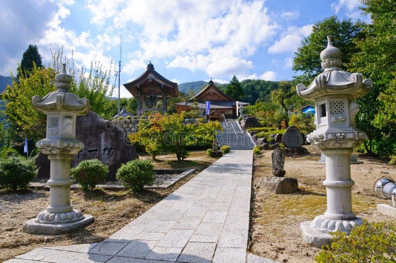 W Nagano Achi wioska, Japonia zdjęcia stock