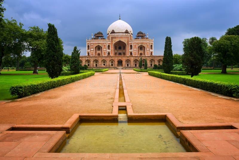 W New Delhi Humayun's Grobowiec, India zdjęcie royalty free