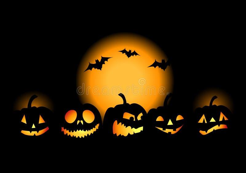 w noc Halloween. royalty ilustracja
