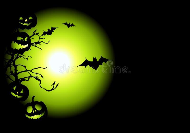 w noc Halloween. ilustracja wektor