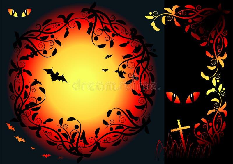 w noc Halloween. ilustracji