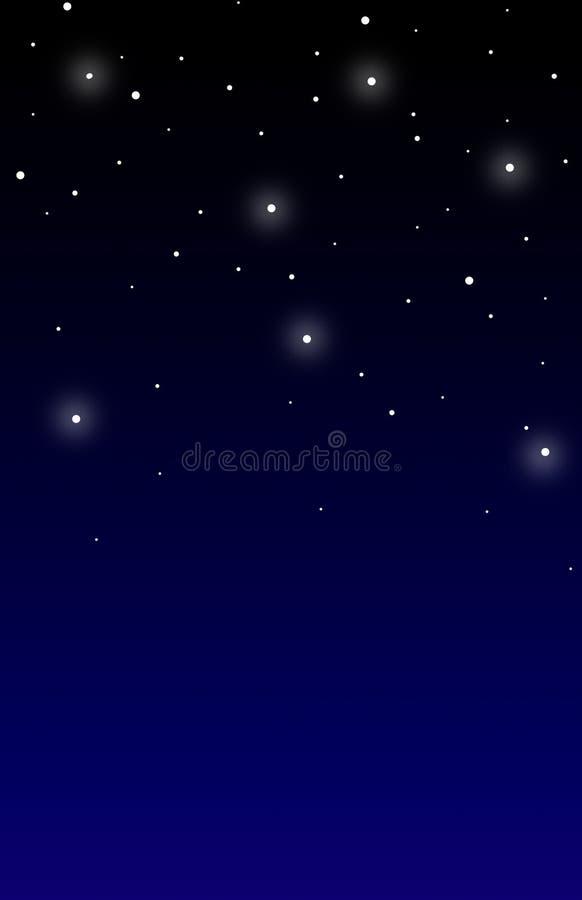 w nocne niebo ilustracji