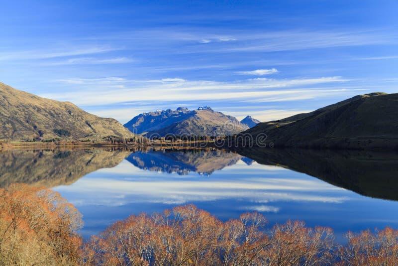 W Nowa Zelandia jeziorny Hayes zdjęcia stock