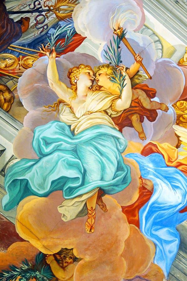 W Nowej Siedzibie cesarski Hall Bamberg. obraz stock