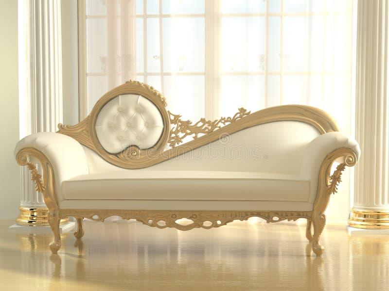 W nowożytnym wnętrzu luksusowa kanapa ilustracja wektor