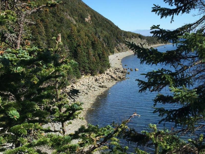 W obrębie pola góra nad patrzeć plażę zdjęcia royalty free