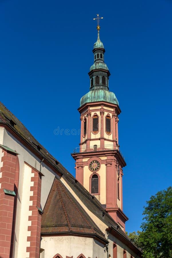 W Offenburg święty Przecinający Kościół, Niemcy zdjęcia stock