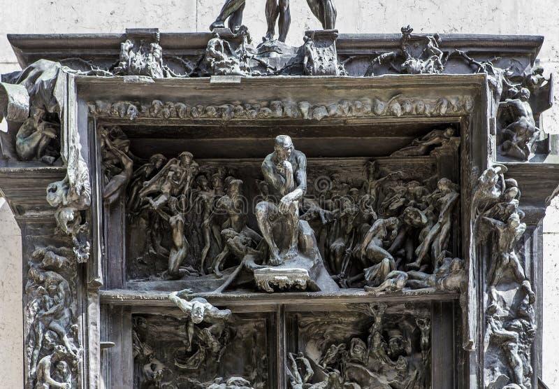 W ogródach Rodin musem, Paryż, Francja obrazy royalty free