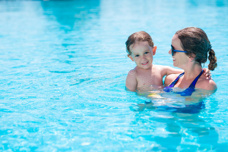 W pływackim basenie obraz royalty free