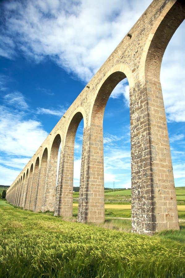 W Pamplona akwedukt strona obraz stock