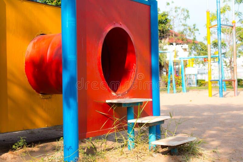 W parku dziecka boisko fotografia stock
