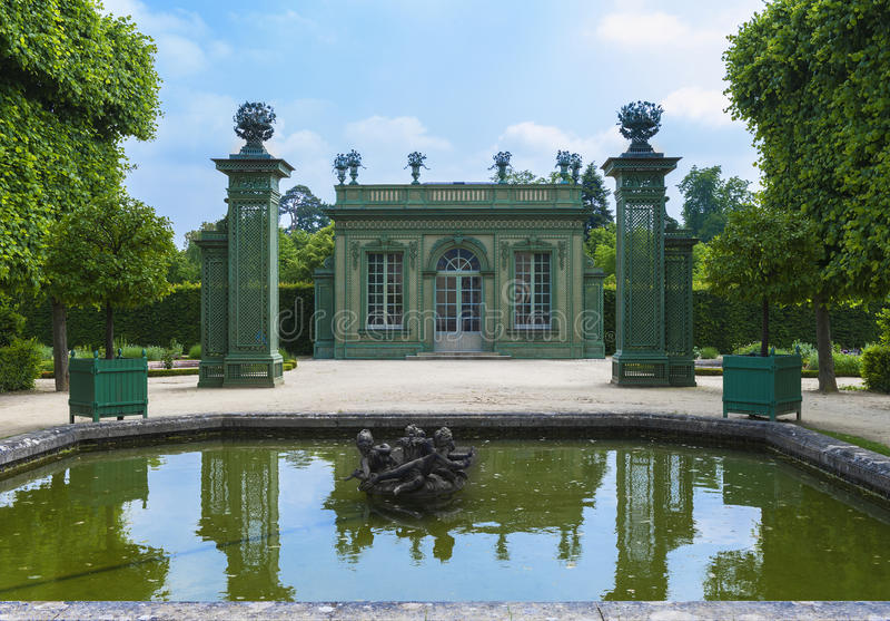 W parku Mały Trianon obraz stock