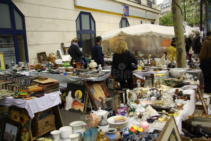 W Paryż dawność rynek fotografia royalty free