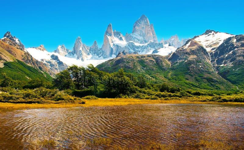 W Patagonia sceniczny krajobraz, Ameryka Południowa obraz stock