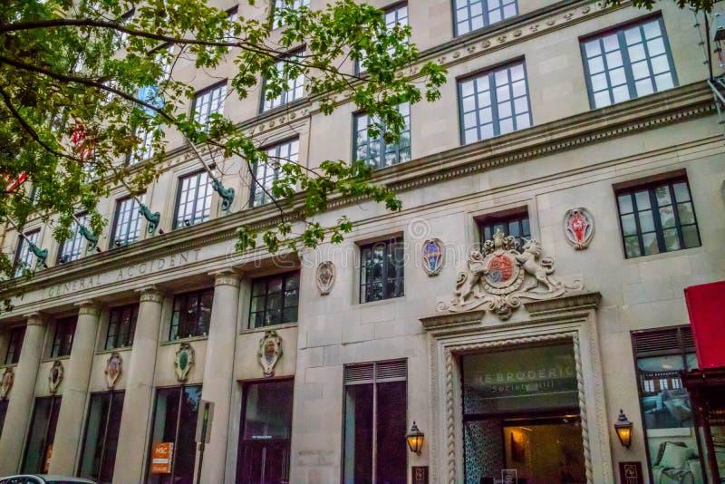 W pełni odnawiący Zielony Drzewny budynek mieszkaniowy Pennsylwania, Filadelfia obrazy royalty free