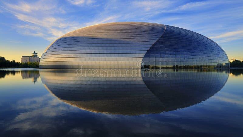 W Pekin porcelanowy Teatr Narodowy zdjęcia stock