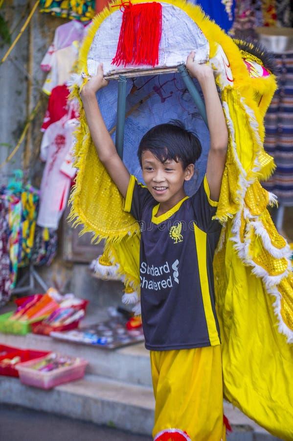 W połowie jesień festiaval w Hoi obrazy royalty free