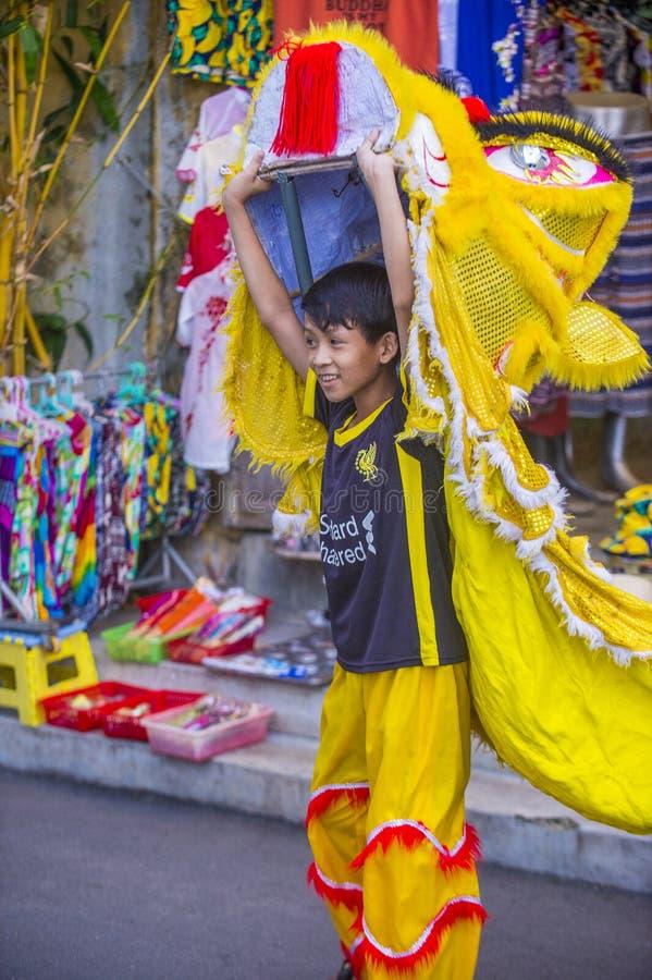 W połowie jesień festiaval w Hoi zdjęcia royalty free
