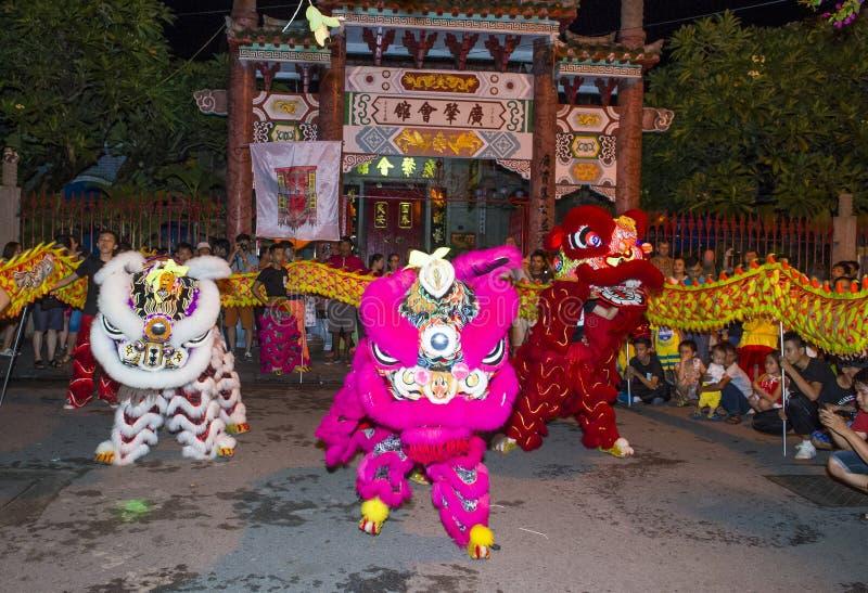 W połowie jesień festiaval w Hoi zdjęcie royalty free