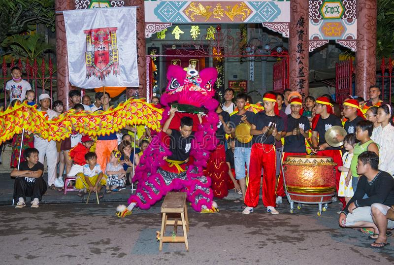 W połowie jesień festiaval w Hoi obraz royalty free