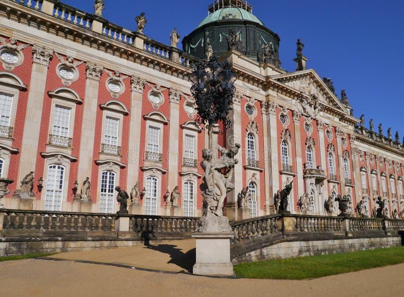 W Potsdam nowy Pałac zdjęcie royalty free